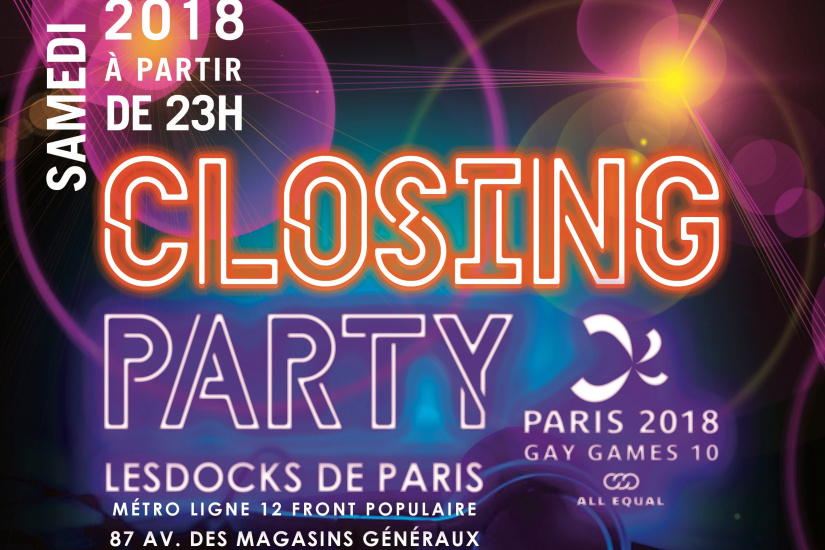 Gay Games 2018 Paris closing party